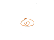 Bague coeur gold filled 14 carats or rose