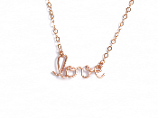 Collier amour en Gold filled or rose 14 carats