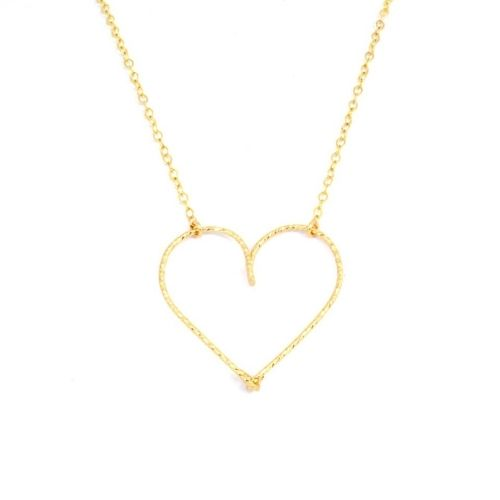 "Collier ""moyen coeur"" Gold filled or 14 carats"