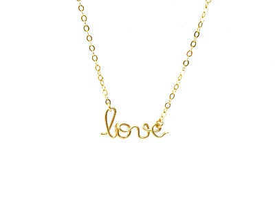 Collier love en Gold filled or rose 14 carats