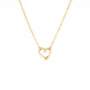 Collier coeur goldfilled or 14 carats