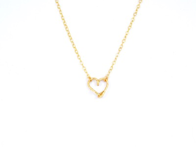 Collier coeur Goldfilled 14 carats or