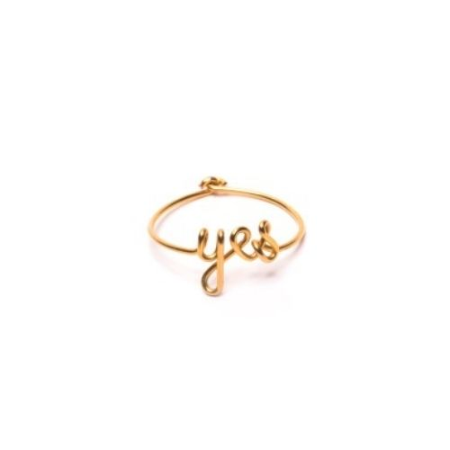 Bague yes gold filled 14 carats or