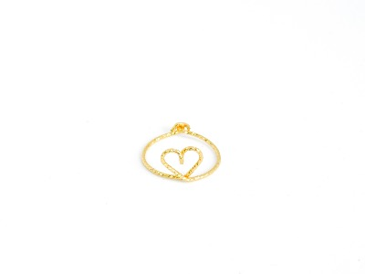 Bague coeur Goldfilled or 14 carats scintillant