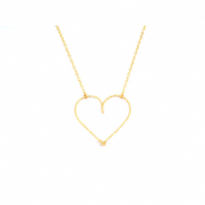 "Collier ""gros coeur"" Goldfilled or 14 carats"