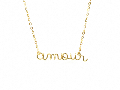 Collier amour en Gold filled or 14 carats