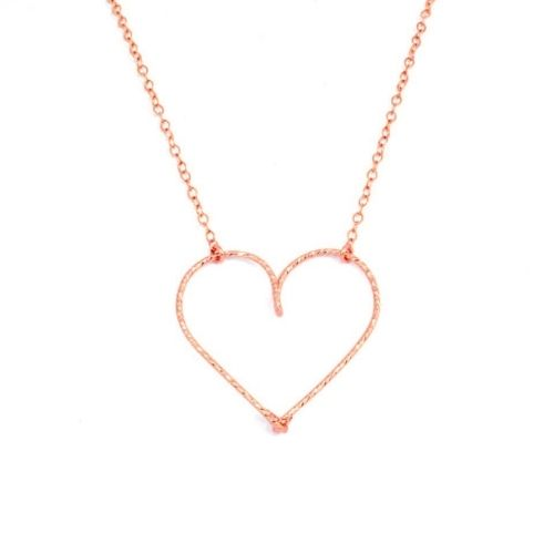 "Collier ""moyen coeur"" Gold filled or rose 14 carats"