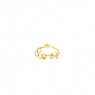 Bague love gold filled 14 carats or
