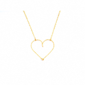 "Collier ""moyen coeur"" Goldfilled or 14 carats"