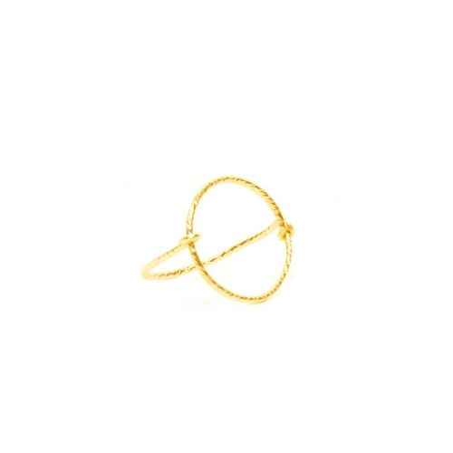 Bague ronde goldfilled 14 carats scintillant